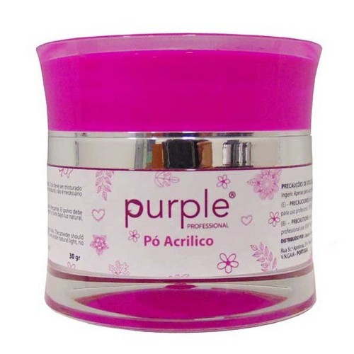 Purple Pó AcrílicoWhite