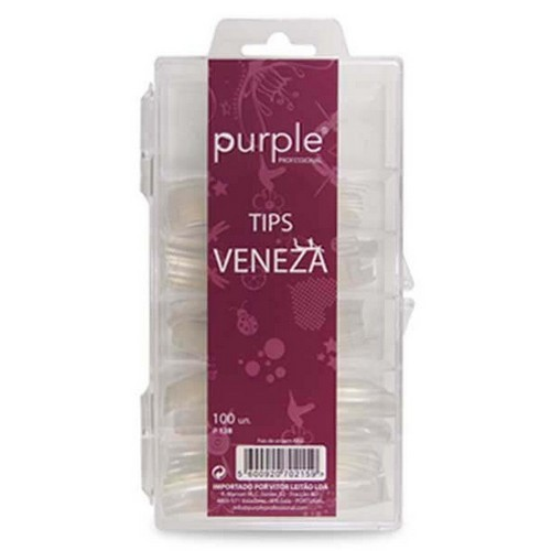 Tips Veneza Transparente Cx 100 uni