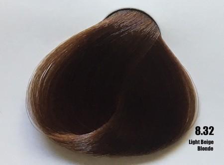 Raywell Tinta Sem Amonia 8.32 Louro Claro Bege 100ml