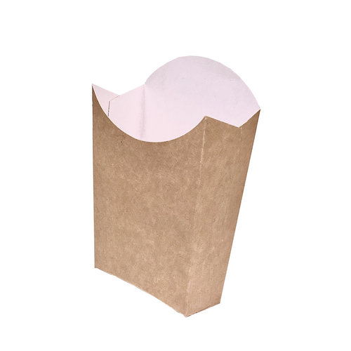 Caixa para Batatas Fritas Média Kraft - Pacote 25 unidades