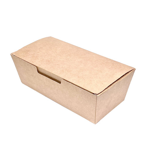 Caixa Rectangular Take Away Kraft - Cx. completa 600 unidades