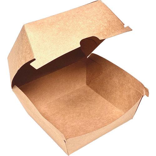 Caixa de Hamburguer Kraft - Pacote 50 unidades