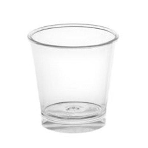 Copo Plastico SHOT IBERICO  30ml (Cristal) 100 unidades C/ Tampa