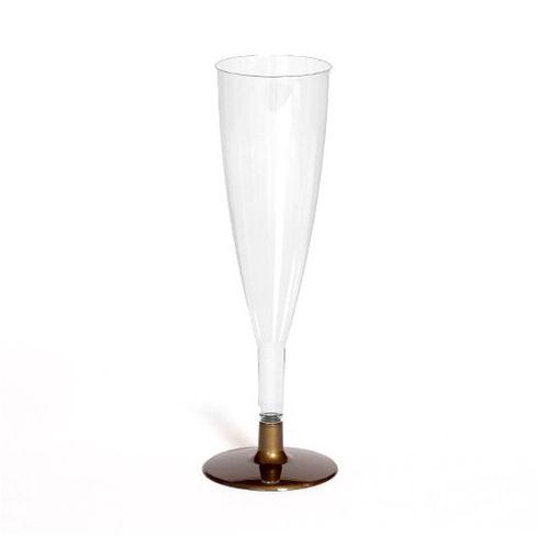 Copo FLUTE CLÁSSICO 120ml. (cristal) PS embalagens de 100 unidades Dourado