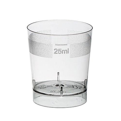 Copos Plastico SHOT 25ml (Cristal) PS - Emb.c/100 Unidades