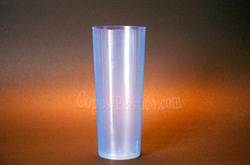Copo Plastico TUBO 200ml.  (Flexivel) ,PP  AZUL Emb.c/100 Unidades