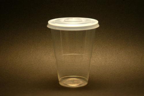 Copo Descartável 350 ml. PP Caixa Completa c/ tampa