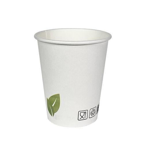 Copo Cartão Eco Folha Branco 240ml (8OZ) Caixa Completa 1000 unidades
