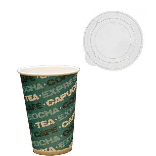 Copo Cartão Coffee 200ml c/Tampa Plana Fechada - 2700 unidades
