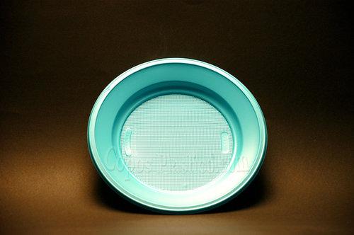 Prato Plástico Descartável Sobremesa 18,5 Cm 100 Unidades Azul