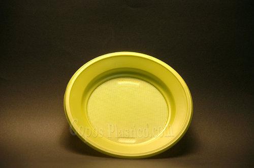 Prato Plástico Descartável Sobremesa 18,5 Cm 100 Unidades Verde