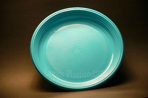 Prato Plástico Descartável 22 Cm 100 Unidades Azul