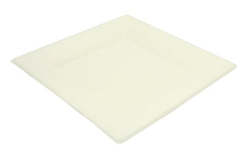 Prato quadrado BIO 26x26cm - manga 40 unidades