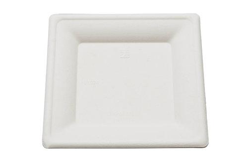 Prato quadrado BIO 15x15cm - pacote 50 unidades