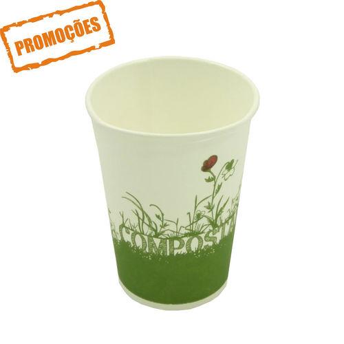 Copo Cartão Green Cup - 100 % Biodegradável 330ml - Caixa Completa 1000 unidades