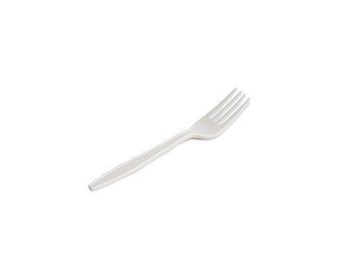 Garfo Bio Maiz Branco 175mm - Pacote 50 Unidades