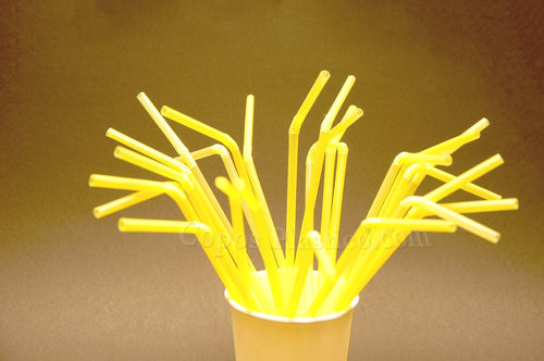Palhinhas Flexiveis embalagem de 250 uni Amarelo