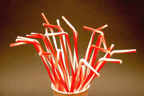 Palhinhas Flexiveis Twisted Vermelho 250 uni