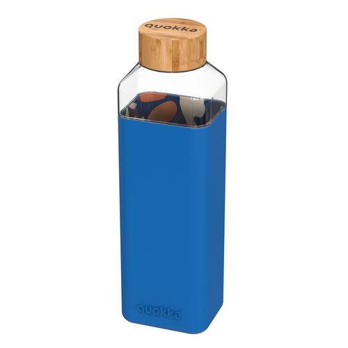 Garrafa em Vidro Quadrada Azul 700ml - 1 unidade