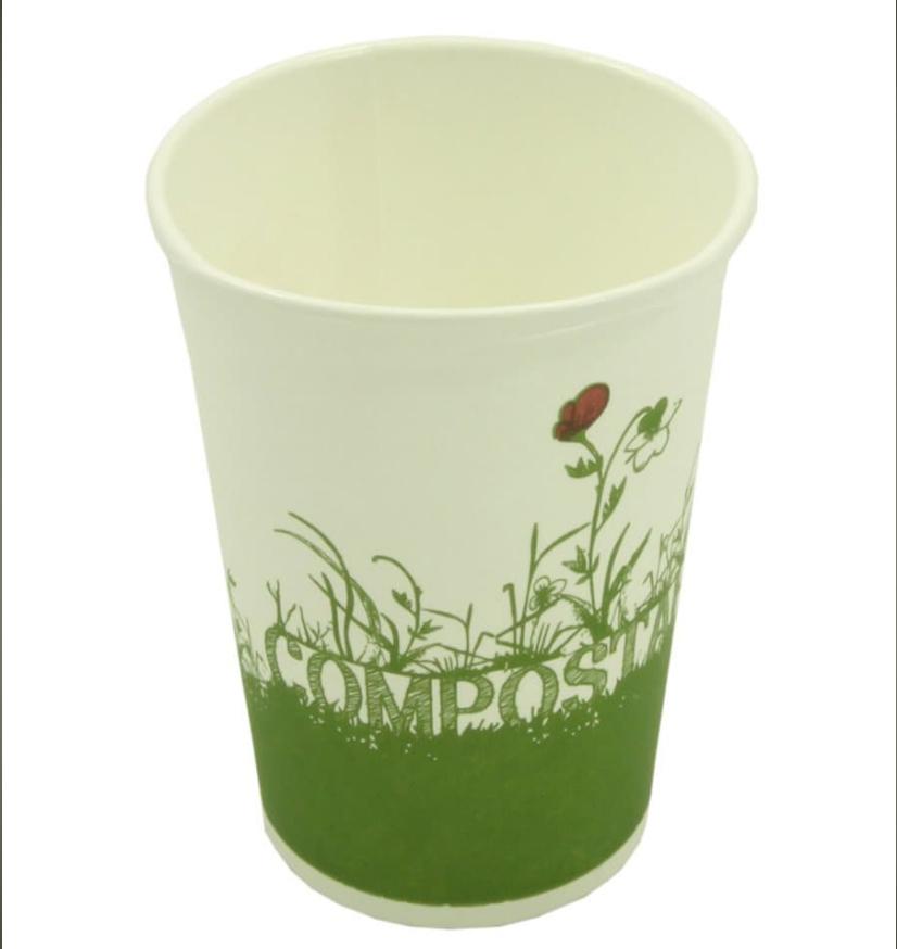 Copo Cartão Green Cup - 100 % Biodegradável 250ml - Pacote 40 unidades