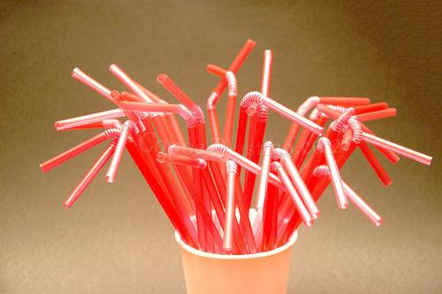 Palhinhas Flexiveis embalagem de 1000 uni Vermelho