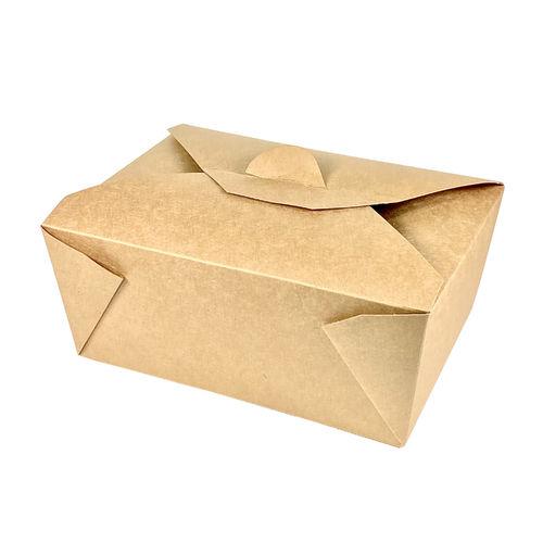 Caixa de Take Away Kraft 2200ml - Pacote 40 unidades