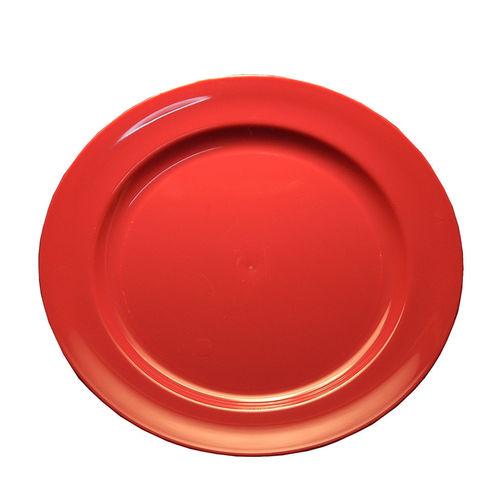 Prato Plástico Raso 23cm (Rigido) PS - Cx. Completa 100 Unidades Rosa