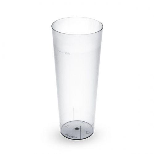 Copo Plastico TUBO 220 ml PS Cx Comp 560 uni