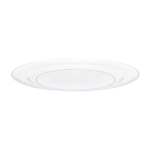 Prato Plástico Raso 19cm PS Cristal Cx completa 100 Unidades incolor