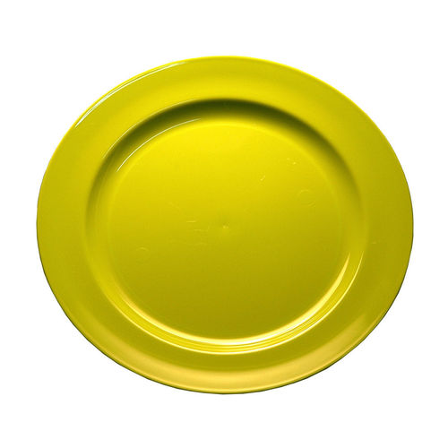 Prato Plástico Raso 19cm PS Cristal Cx completa 100 Unidades Verde