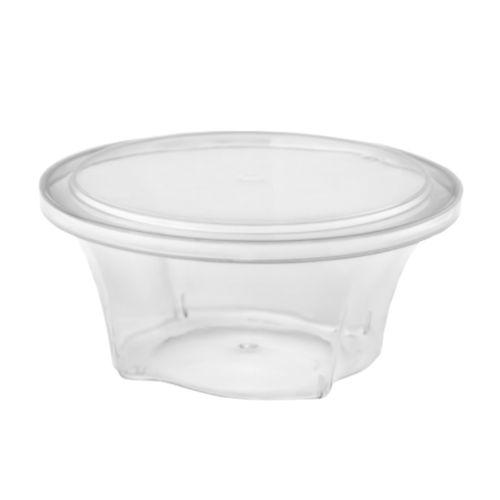 Taça Sobremesa Florida 130 ml 100 Uni c/ Tampa