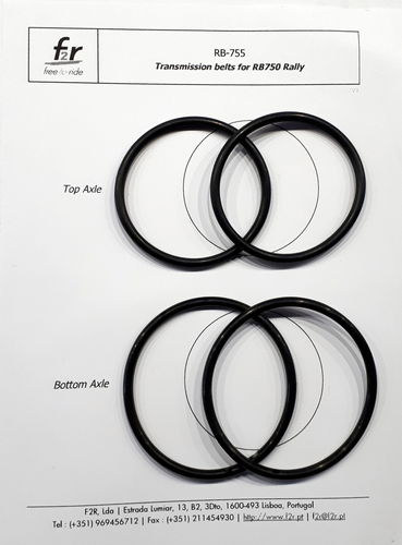 RB755 - Transmission belts for RB750 (pairs)